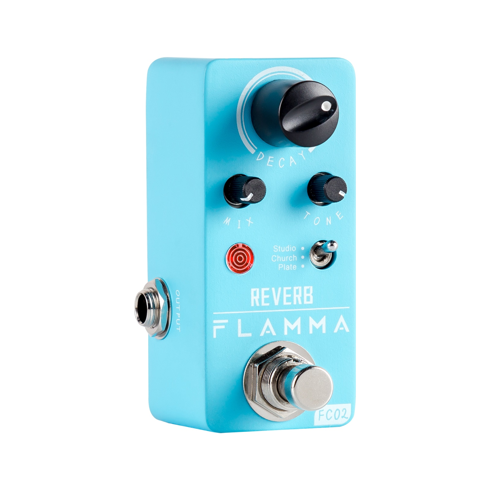 FLAMMA FC02  Electric Guitar Pedal Reverb Effects Pedal with Studio Church Plate Effects True Bypass with Power Supply