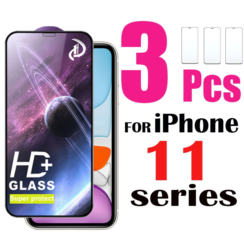 3 Pack HD+ Screen Protector For iPhone 11 Pro Max XR Tempered Glass Protective Film