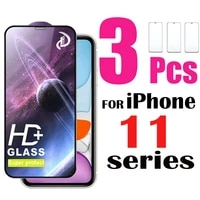 3 pack hd screen protector for iphone 11 pro max xr tempered glass protective film