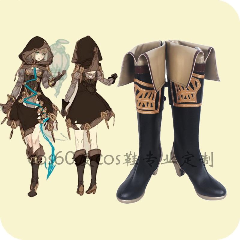 Anime Cosplay SINoALICE Hansel Gretel zapato Cosplay mujeres Punk botas de un