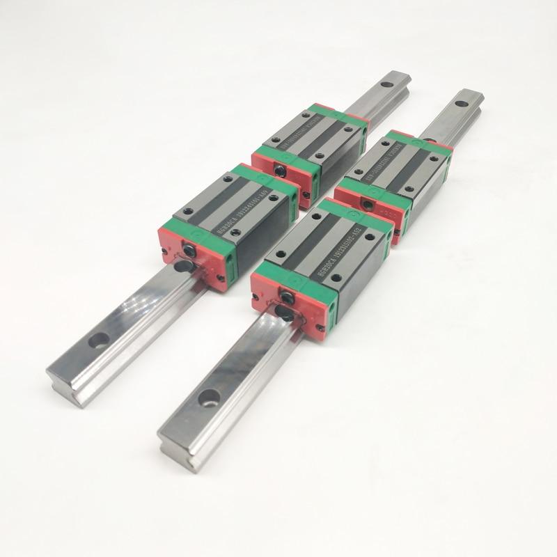 20 مللي متر نوع 2 قطعة HGR20 الخطي دليل السكك الحديدية L400mm السكك الحديدية + 4 قطعة النقل كتلة HGH20CA كتل ل cnc راوتر