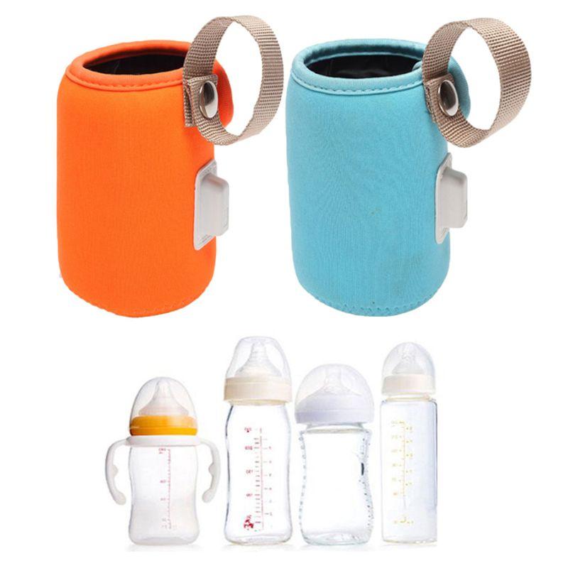 Usb tampa de aquecimento de garrafa de bebê anti-escaldante saco de isolamento antiderrapante carro portátil aquecedor de leite g99c