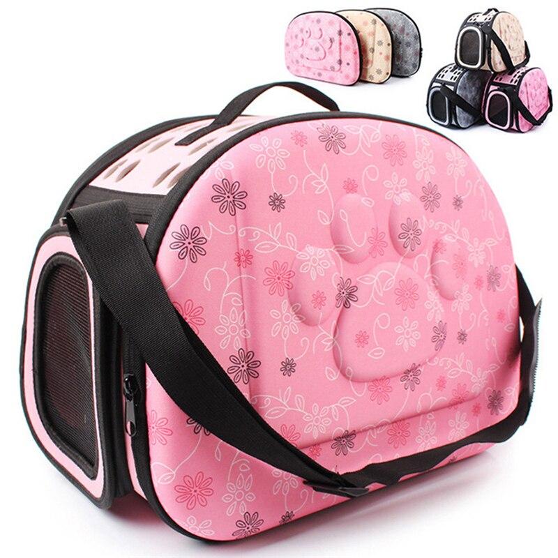 Carrier Bag Portable Cats Handbag Foldable Travel Pet Bag Puppy Carrying Mesh Shoulder Pet Bags S/M/L
