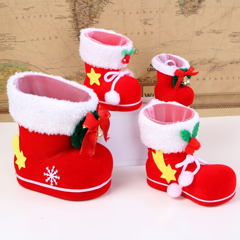 1pc Creative Gift Box Christmas Candy Boots Bag XMAS Decor Holiday Gift Bags Wholesale New Year's Ho