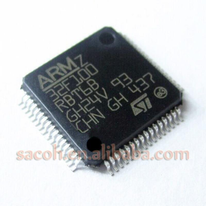 5PCS/lot New OriginaI STM32F100RBT6B STM32F100RBT6 or STM32F100RBT7B STM32F100RBT7 LQPF-64 advanced ARM-based 32-bit MCU