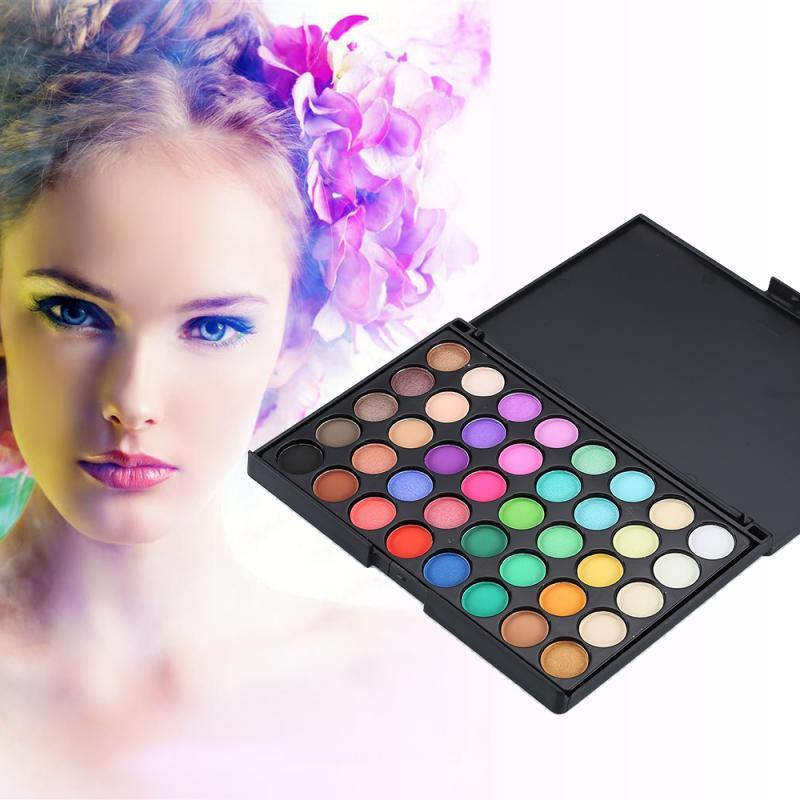 Paleta de sombra de ojos perlada mate de alta calidad, 40 colores, paleta de sombra de ojos delicada, resistente al agua, sombra de ojos duradera Anti-sudor TSLM1