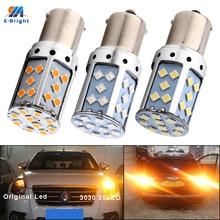 YM e-bright 2 pièces LED Canbus P21W BA15S PY21W BAU15S 3030 35 SMD 1156 sans erreur clignotant de voiture 12V cc pas dhyper Flash ambre rouge