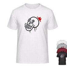 Graffiti Street Art tipo calavera con sombrero Thug Life Boys camiseta marca ropa camiseta