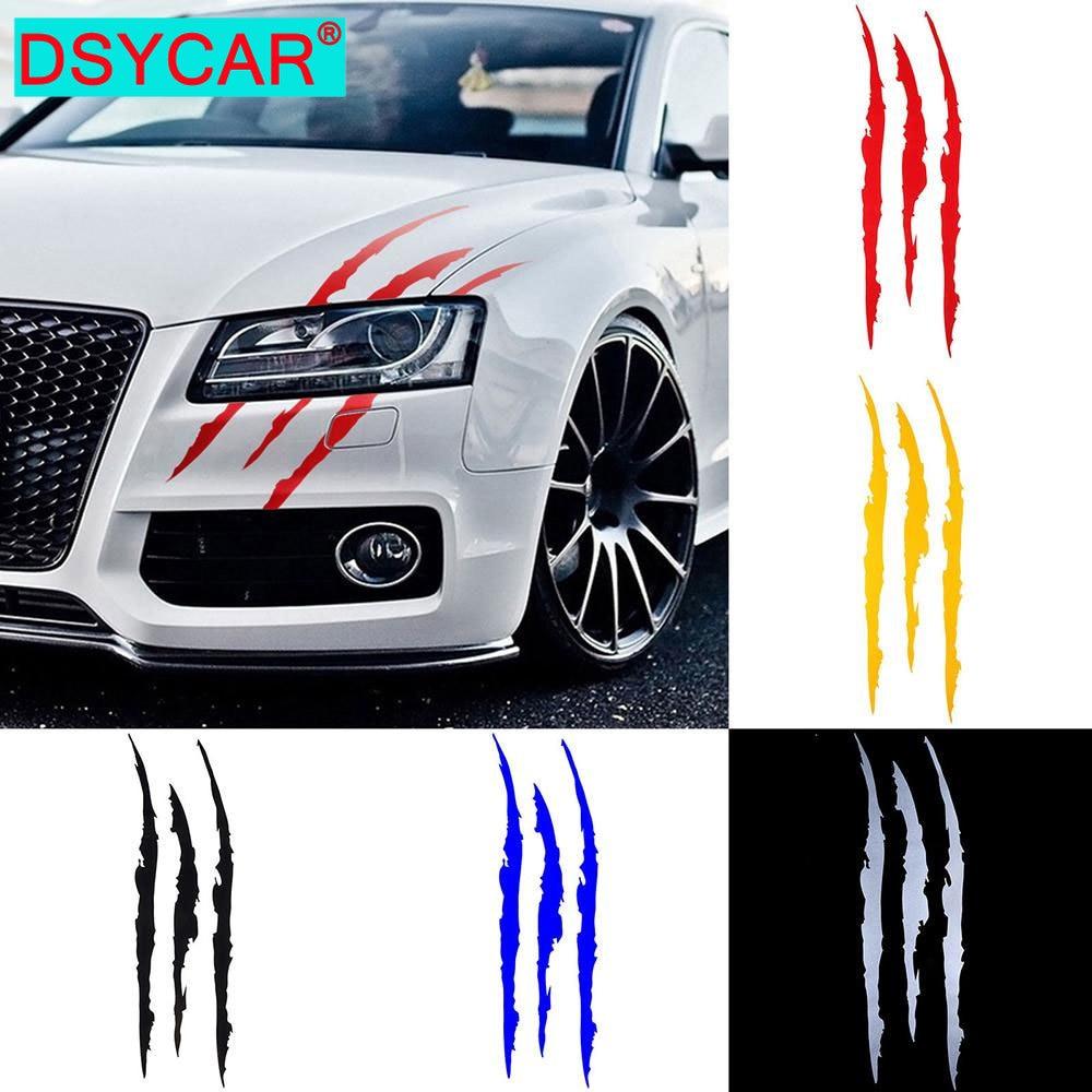 AliExpress - DSYCAR Auto Car Sticker Reflective Monster Claw Marks Scratch Stripe Marks Headlight Decal Dinosaur Raptor Scratches Decor New