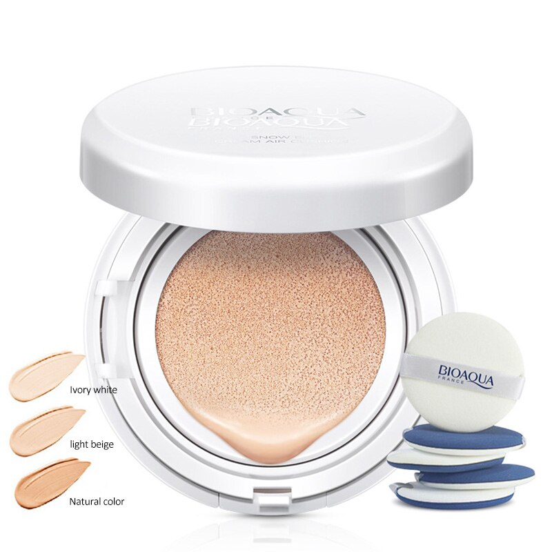 Protector solar cojín de aire BB CC crema corrector hidratante base blanqueamiento maquillaje para maquillaje de belleza facial