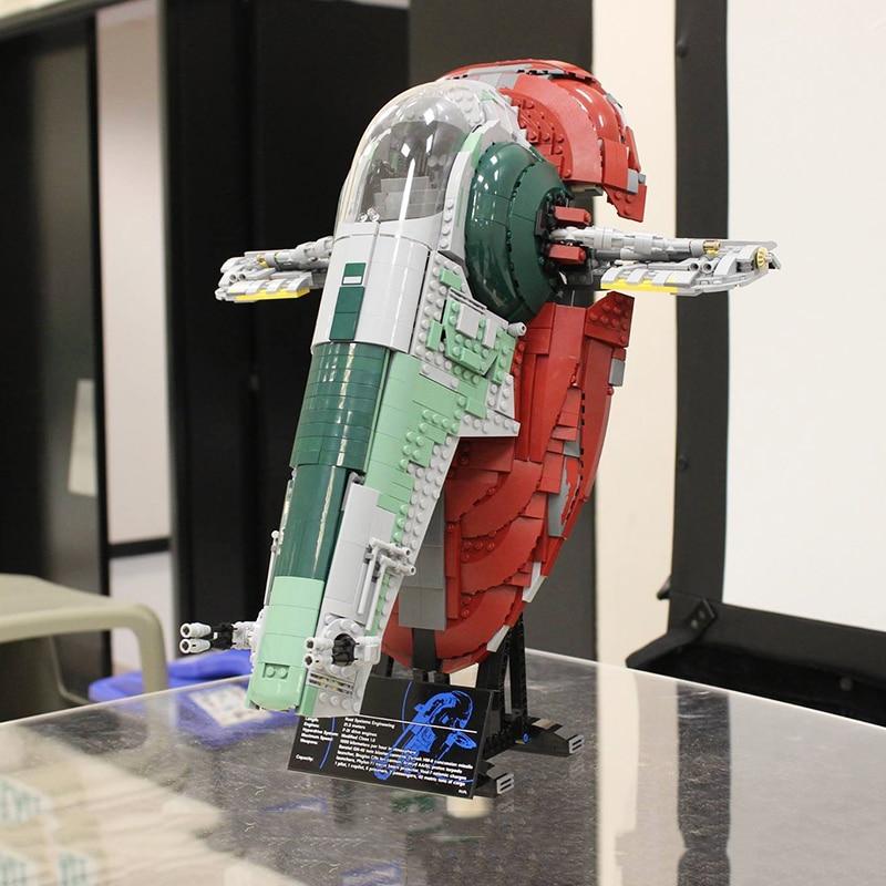 Bloques de construcción Slave I STAR 2058 Uds. 05037 compatibles con wars 05037 75060 81039, bloques de construcción Star, juguetes de regalo Lepinblocks