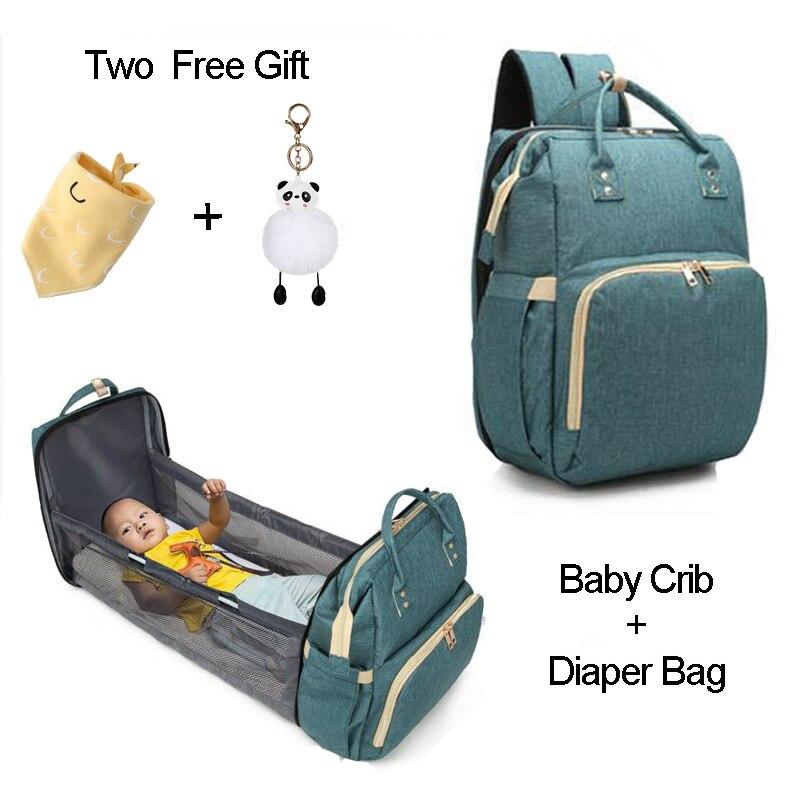 Multifunctional Large Capacity 2in1 Baby Diaper Bag Backpack Bags Travel Portable Crib Maternity Baby Bag For Mom Diaper Bag