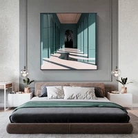 modern window view canvas painting posters and print square landscape home decor wall art pictures for living room bedroom aisle