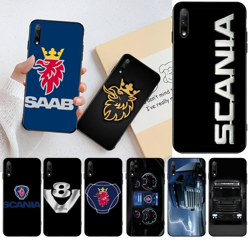 HPCHCJHM Scania logo negro suave funda del teléfono carcasa Capa para Huawei Honor 30 20 10 9 8x 8c v30 Lite view pro