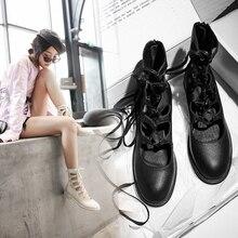Vrouwen Zomer Enkel Laarzen 2019 Mode Schoenen Vrouw Echt Leer Koe Lederen Laarzen Vier Seizoenen Hollow Laced Romeinse Sandalen
