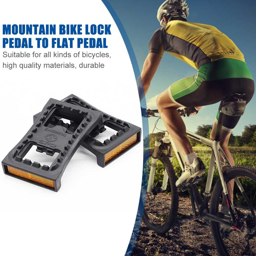 Pedal de bicicleta de montaña, abrazadera plana SPD para SHIMANO SPD M520...
