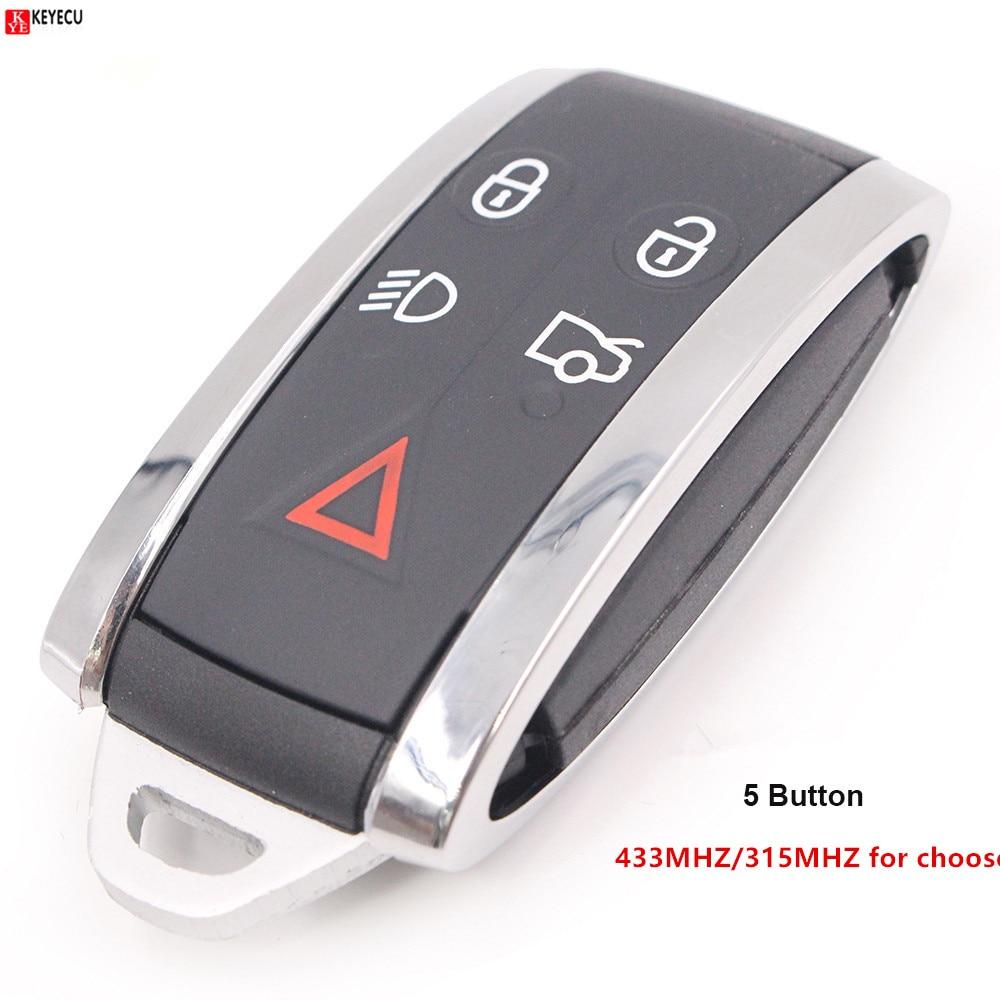 Keyecu OEM remoto inteligente 315 MHz/433 MHz 5 botón para Jaguar XF XFR XK XKR 2009, 2010, 2011, 2012, 2013
