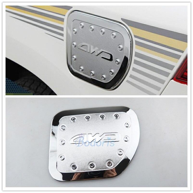 Para Toyota Land Cruiser 150 Prado LC150 FJ150 2010-2019 tapa de tanque de combustible de Gas de aceite de tapa de la caja de Panel cromo accesorios de estilo de coche