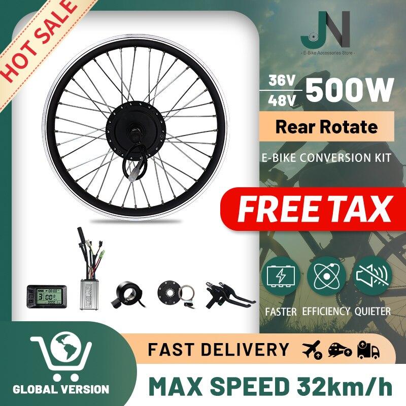 E Kit de conversión de Bicicleta eléctrica, 36V, 48V, 500W, 20-29 pulgadas/700C,...