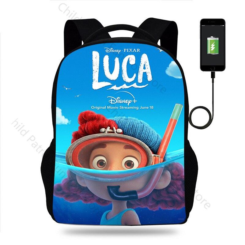 2021 новые детские рюкзаки Disney Luca, качественные нейлоновые водонепроницаемые дорожные рюкзаки, школьные сумки с мультяшным принтом, Подарочн...
