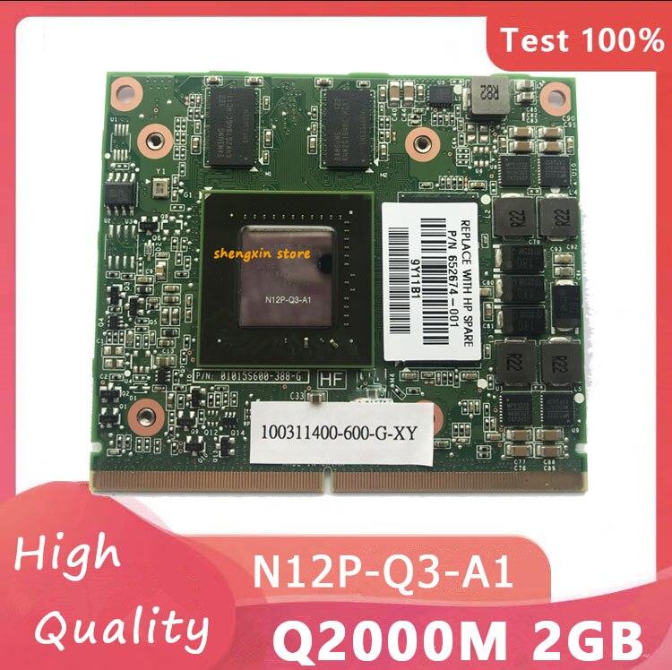 كوادرو 2000M Q2000M فيديو Vga الجرافيك بطاقة N12P-Q3-A1 M5950 بطاقة لأجهزة الكمبيوتر المحمول HP 8540W 8540P 8560W ديل M4600 M4700