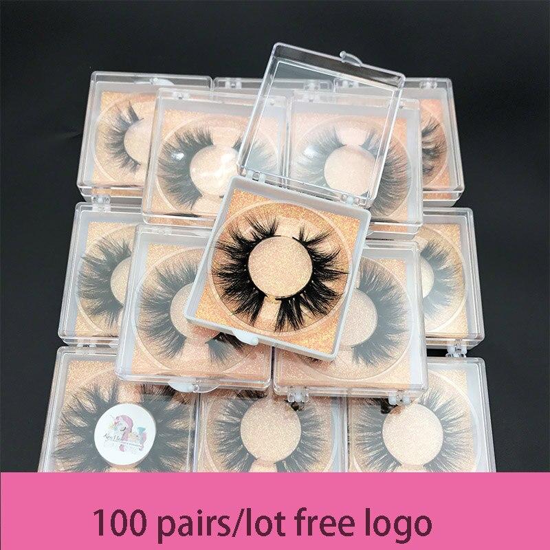 Wholesale order MIKIWI free DHL  100pairs/lot Custom square box 5D MINK Eyelash 100 Cruelty free natural resuable popular lashes