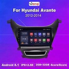 2G RAM 32G ROM 9 inch Android 8.1 car dvd gps navigation For Hyundai Elantra Avante2012 2013 2014 multimedia system