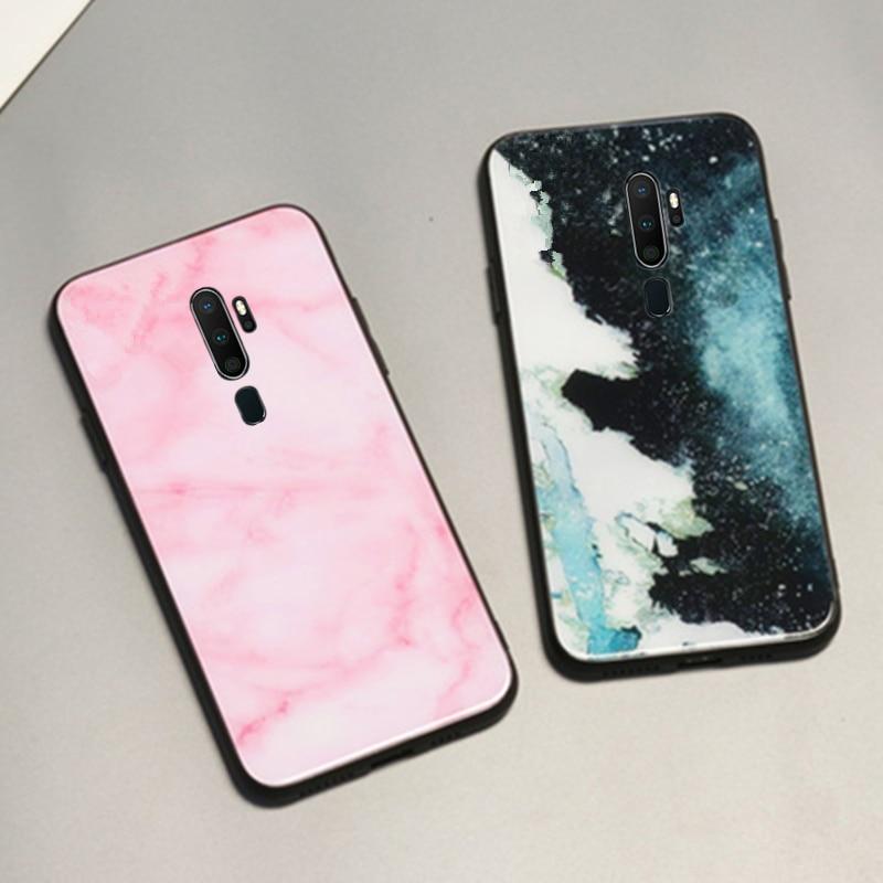 Para meizu m9 m8 m6 m5 nota caso amantes mármore duro vidro temperado macio silicone capa para meizu v8 x8 s6 e3 telefone funda