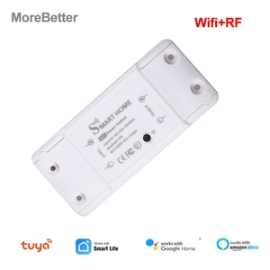 Tuya Smart Switch Wifi RF 433 Smart Home Remote Control ON/OFF Timer DIY Switch Via Smart Life APP Work with Alexa Google Home
