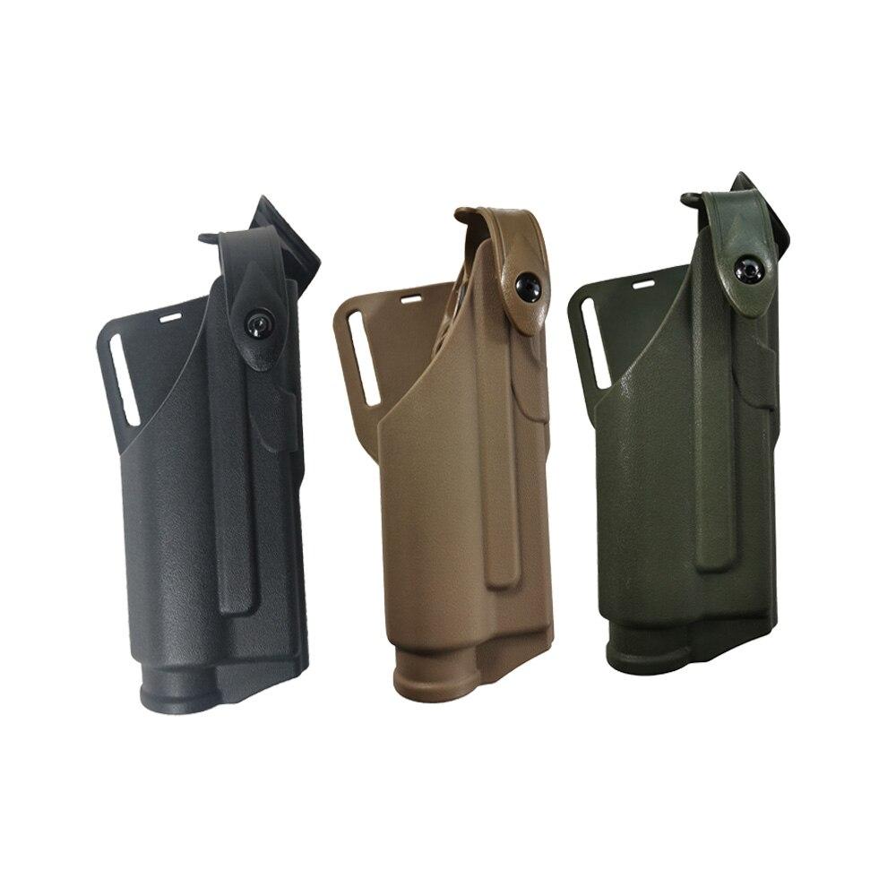 TOtrait arma de caza militar táctica funda estilo Safa linterna de rodamiento para Glock17 18 19 23 31 negro/Verde/Color bronceado cintura