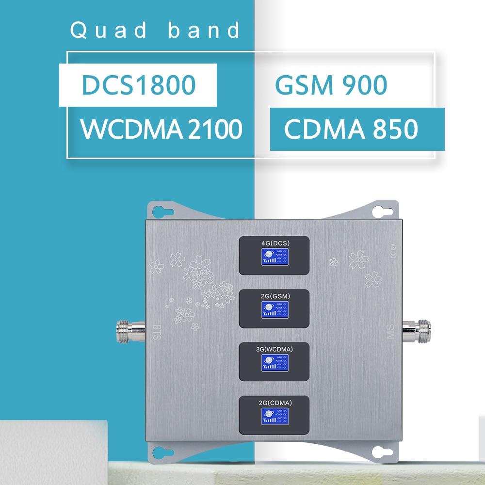 Israel Quad-band 850 900 1800 2100 Signal Booster Handy Repeater 2g 3g 4g Cellular signal Booster GSM 4g LTE Verstärker