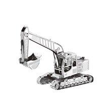3D металлические Пазлы Модель тяжелой техники инженерный автомобиль грузовик DIY лазерная резка ручной головоломки наборы для взрослых и детей развивающие подарки
