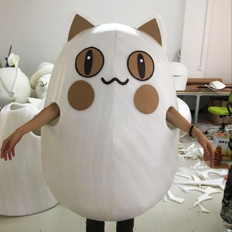 Disfraz de Mascota de gato de personaje de dibujos animados de Carnaval Chic trajes Cosplay partido juego vestido Fursuit Promoción de publicidad Halloween adulto