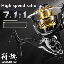 Full Metal Fishing Reel 5 1BB 7.11 High Speed Gear Ratio Spinning Fishing Line Cup Unidirectional No Gap Sea Fishing Reel