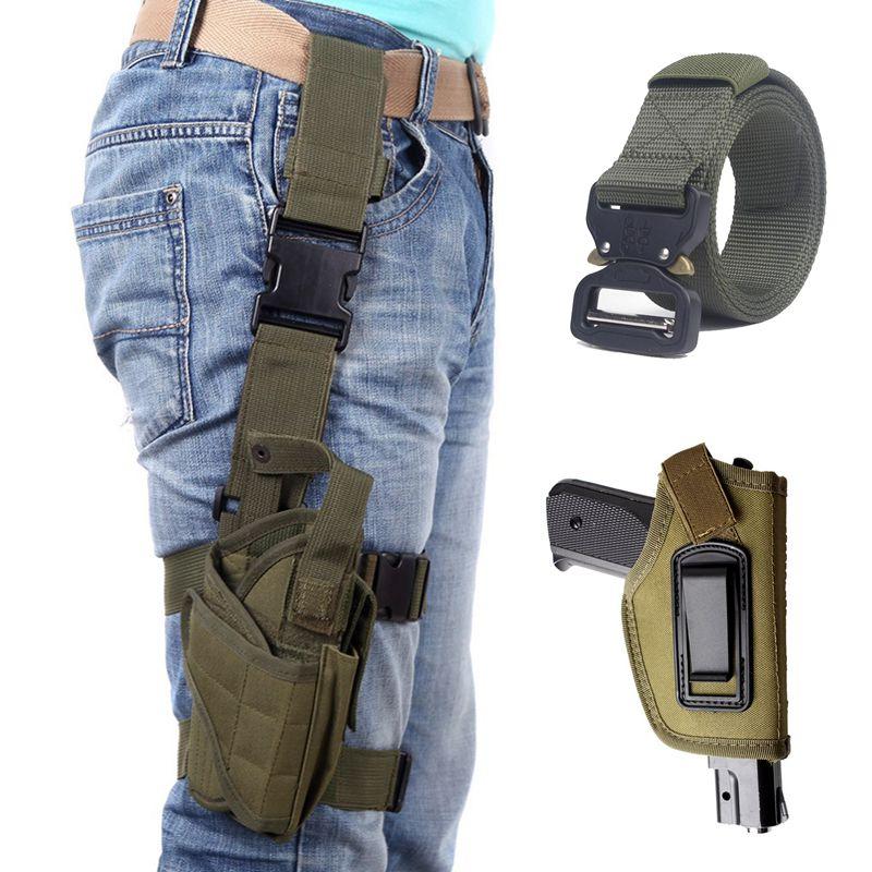 טקטי אקדח נרתיק גלוק 17 ברטה m9 Airsoft אקדח נרתיק אקדח נרתיק רגל ציד נרתיק ניילון מותן חגורת אבזרים