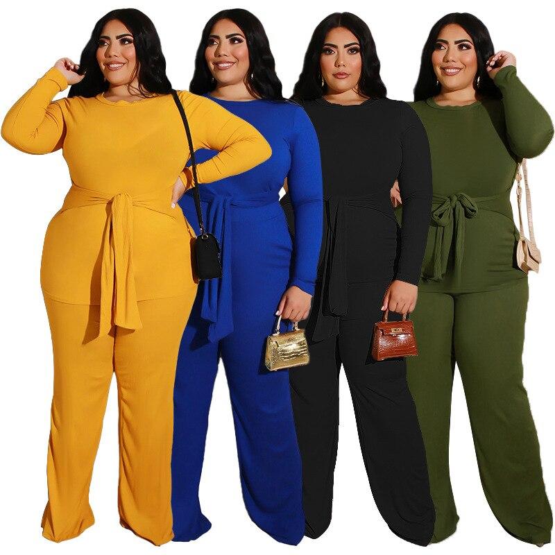 عارضة قطعتين دعوى حجم كبير النساء دعوى طويلة الأكمام فستان أطفال مع سروال داخلي بسيط أنيق الزي الخريف ملابس النساء العصرية دروبشيبينغ