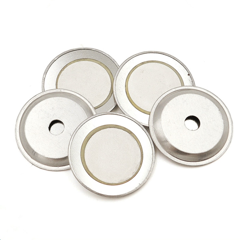 10Pcs/lot 27MM Iron Ceramic Wafer Plate Dia 27MM Ceramic 20MM Piezoelectric Piezo  For Buzzer Loudspeaker + Aluminum shell