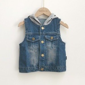 Kids Vests Spring New Arrival Fashion Denim Jacket for Boys Kids Waistcoat 1 2 3 4 5 6 Years Fashion Toddler Boys Outerwear 2020