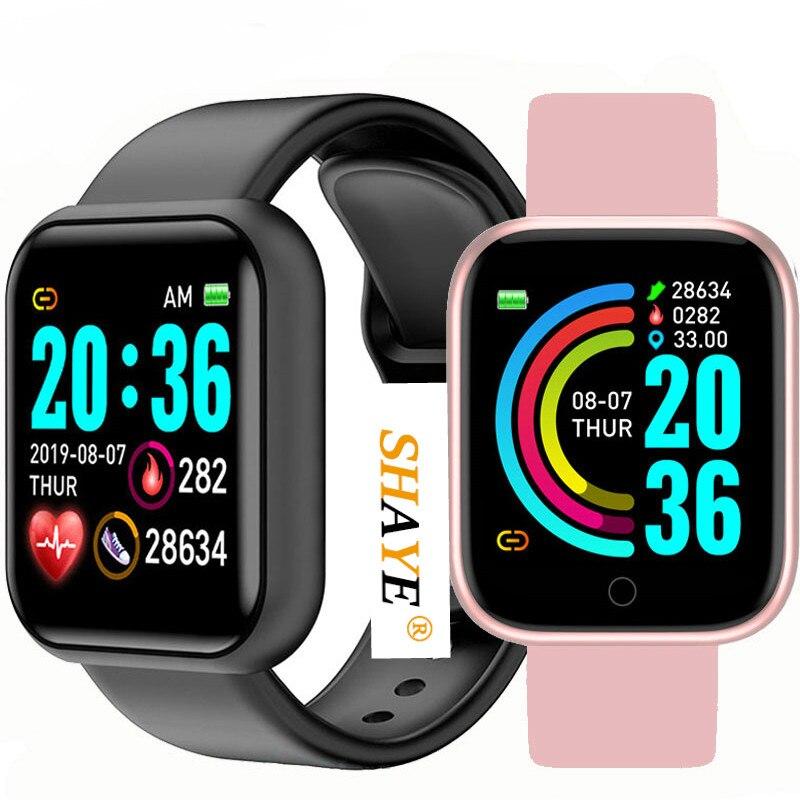 2020Bluetooth Smart Watches Men Waterproof Sport Fitness Tracker Smart Bracelet Blood Pressure Heart Rate Monitor Y68 Smartwatch