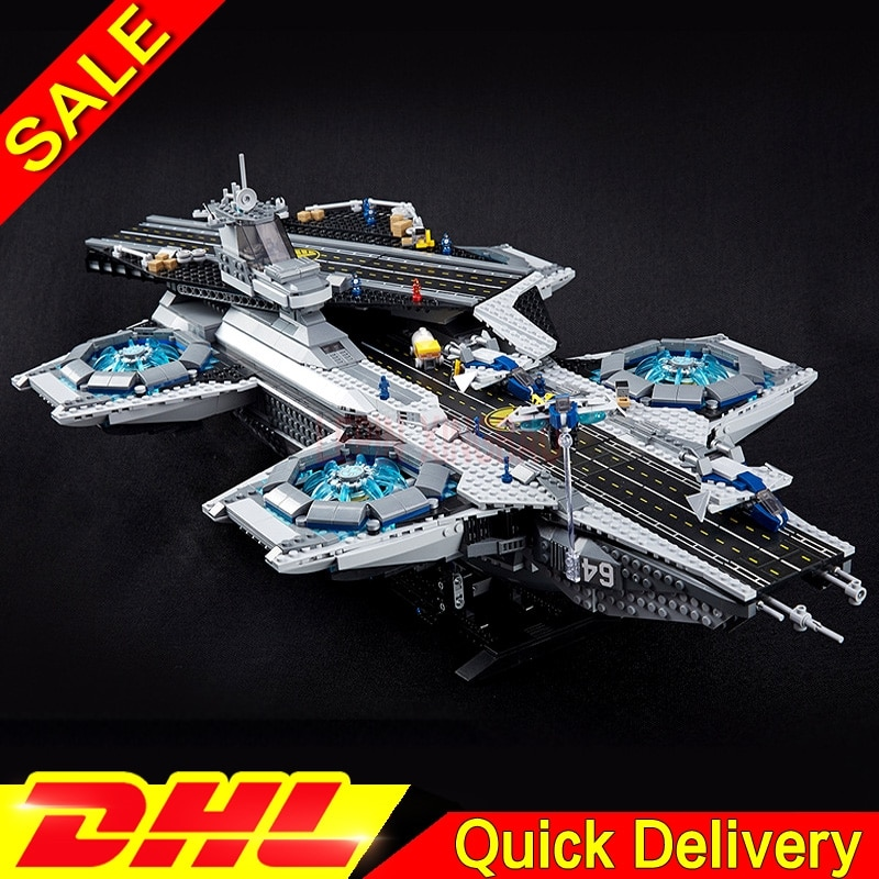 LP 07043 3057 piezas marvel Super Héroes el helitransporte de Shield bloque Kits de LPings juguetes clon 76042