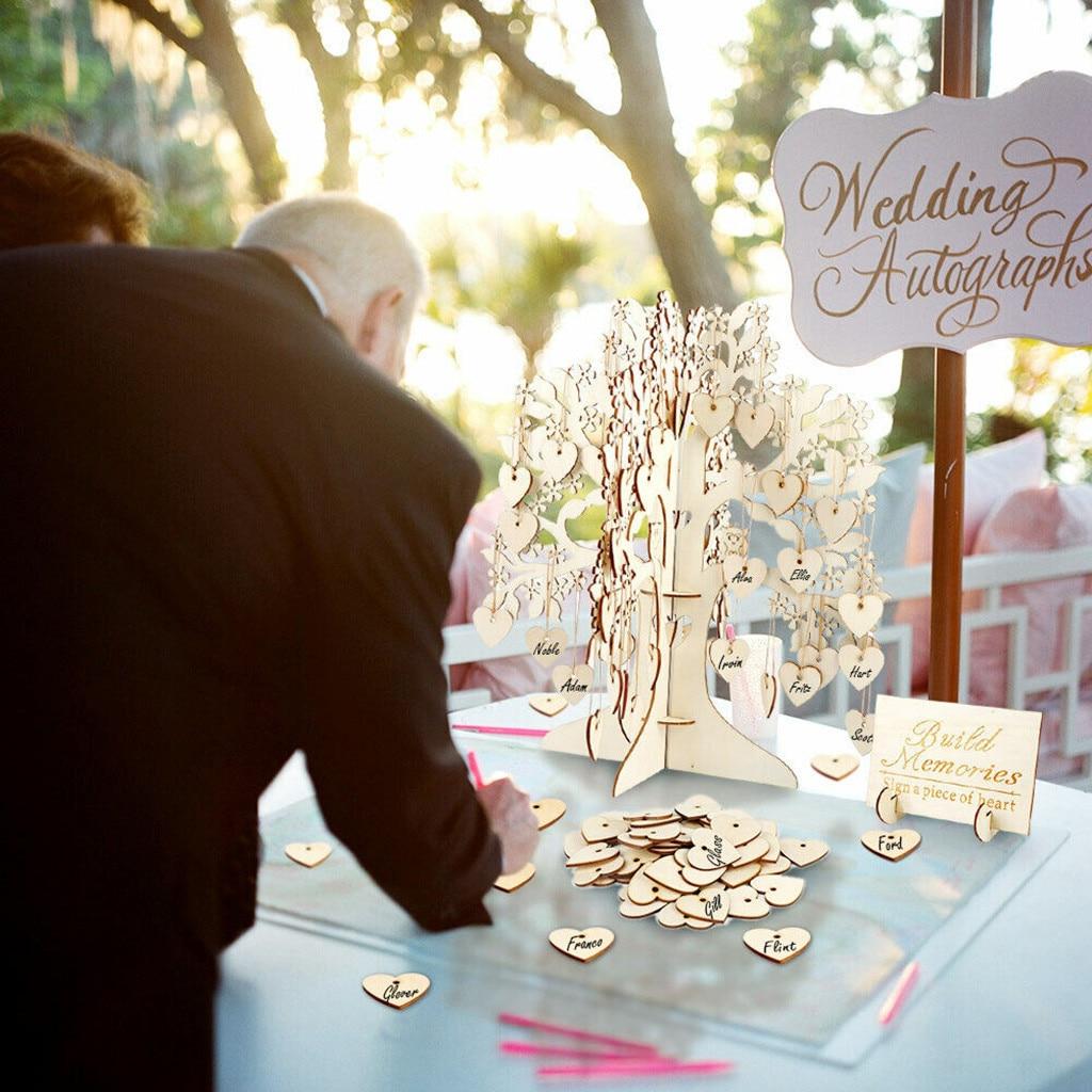 30x32x0 3 см Свадебная Гостевая книга Дерево Деревянный подвеска виде сердец висячие