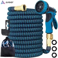 amkoy 25ft 150ft garden hose flexible expandable hose garden water hose magic watering hose car washing hose pipe with spray gun