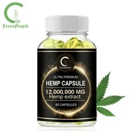 GPGP GreenPeople Esculent Hemp Oil Essence Capsule Anti-Ageing Relieve Joint Pain Stress Relief Help Sleep Healthy  Beauty Item