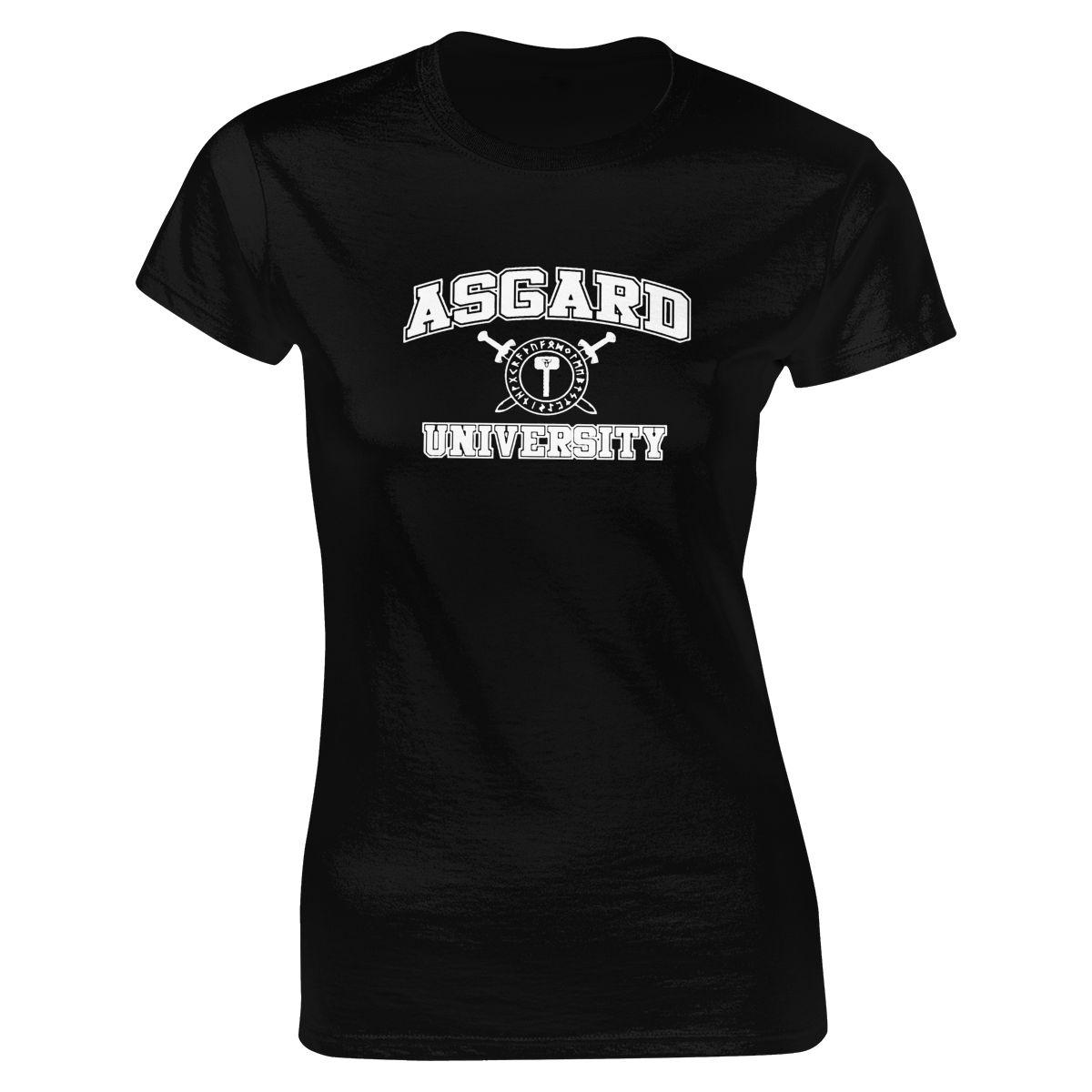 Asgard university t-shirt imprimir casual algodão o pescoço curto verão regular idades 16-28 anos de idade cn (origem) worsted