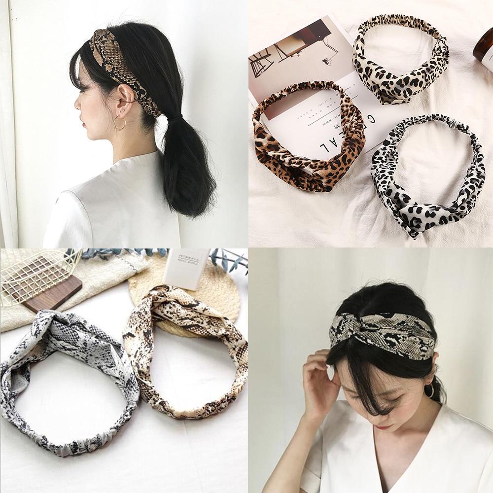 Twist Turban Women Hair Band Hoop Bows Elastic Headkerchief Sport Hairbands Leopard Knot Head Band Rope Girls Headwear Headwrap