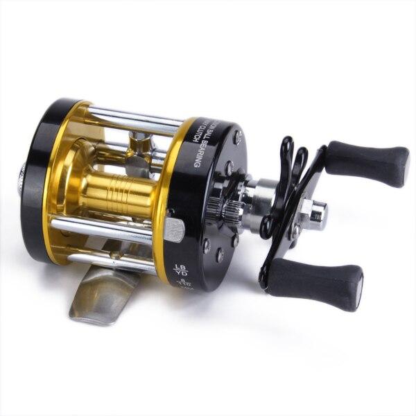 CL25 Anti-retroceso cojinete aluminio carrete de pesca carrete de giro para pesca 1 + 1 + 1 BB de oro