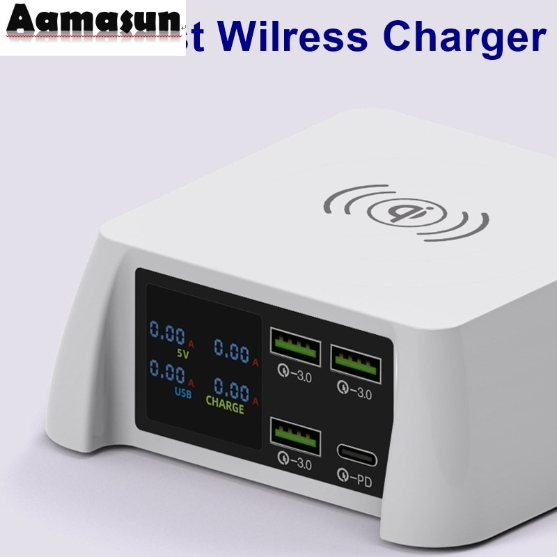 100w-multi-usb-fast-charger-qc-3-0-quick-charge-lcd-pd-charger-qi-wireless-charger-for-iphone-xs-12-11-pro-max-samsung-huawei