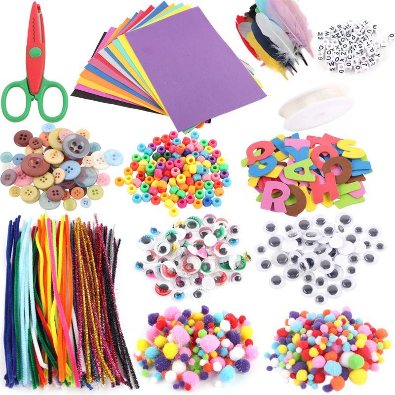 Los suministros de arte y Kit para manualidades incluyen pipas limpiadoras bolas de espuma de plumas y fieltro para niños y niños pequeños