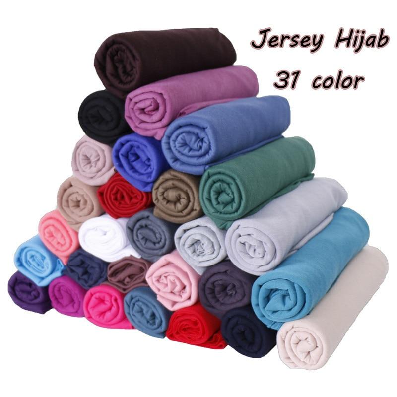 2019 feminino simples bolha algodão jérsei cachecol cabeça hijab envoltório cor sólida bandana xales foulard femme muçulmano hijabs loja Vestuário islâmico    -