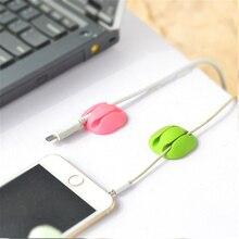 Enrouleur de fil Double trou pour maison bureau   Rangement, chargeur, téléphone de bureau, organisateur de câbles, écouteur, support de fixage de câbles